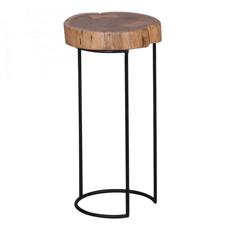 măsuță de cafea lemn și metal