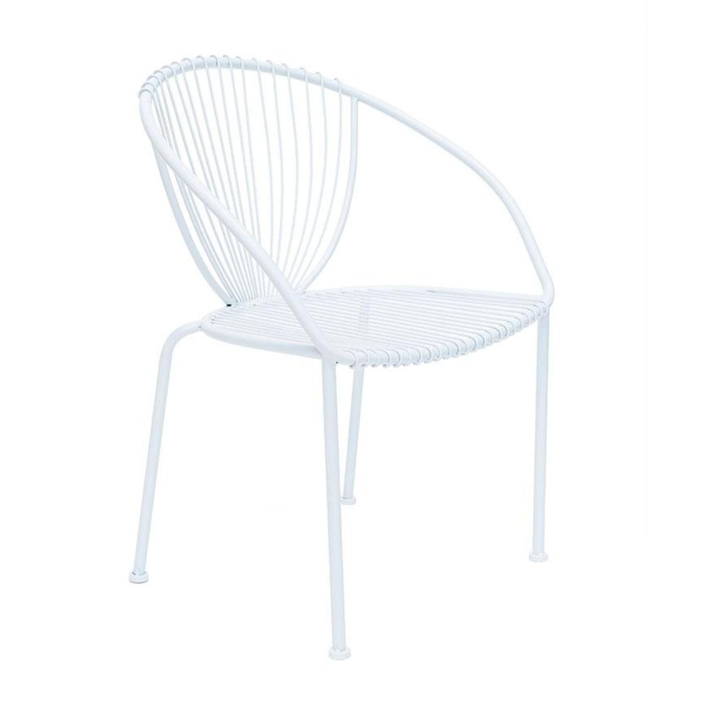 scaun alb din metal vivre