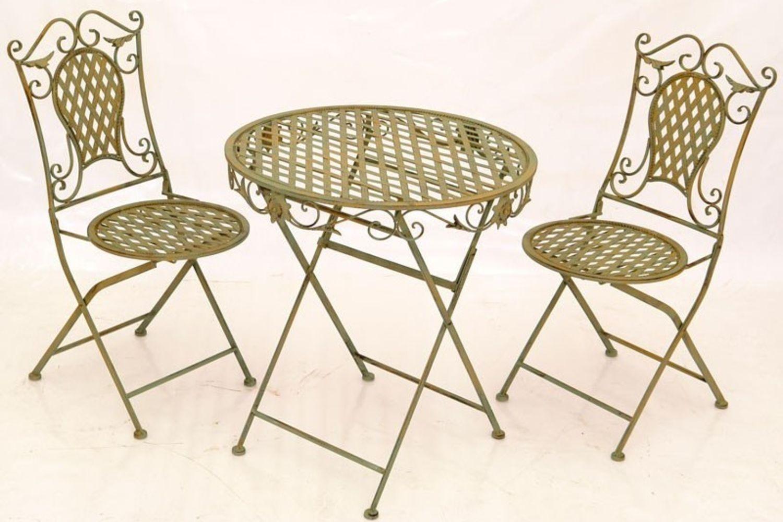 set masa si scaune fier
