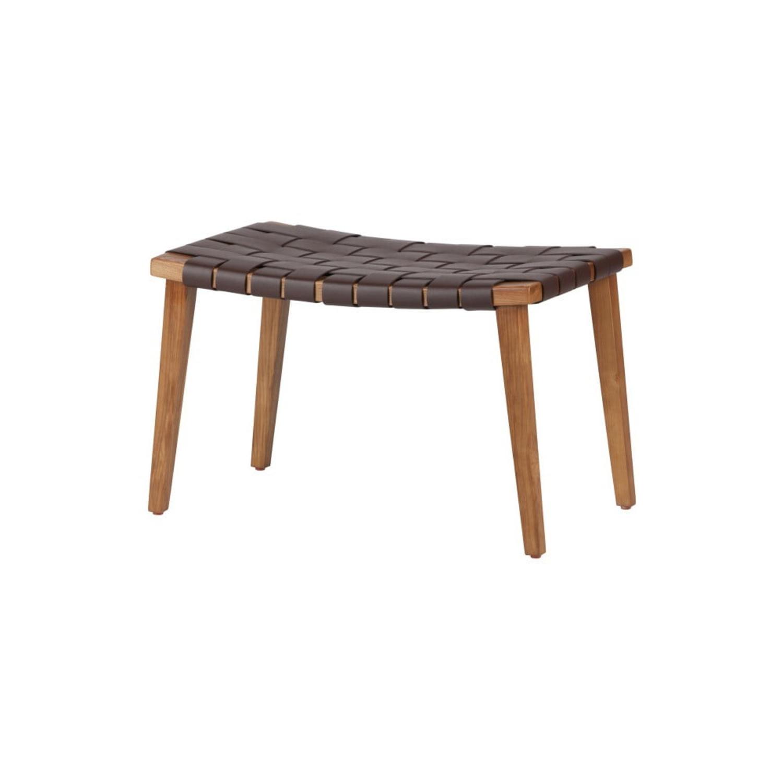 taburet lemn sezut din piele