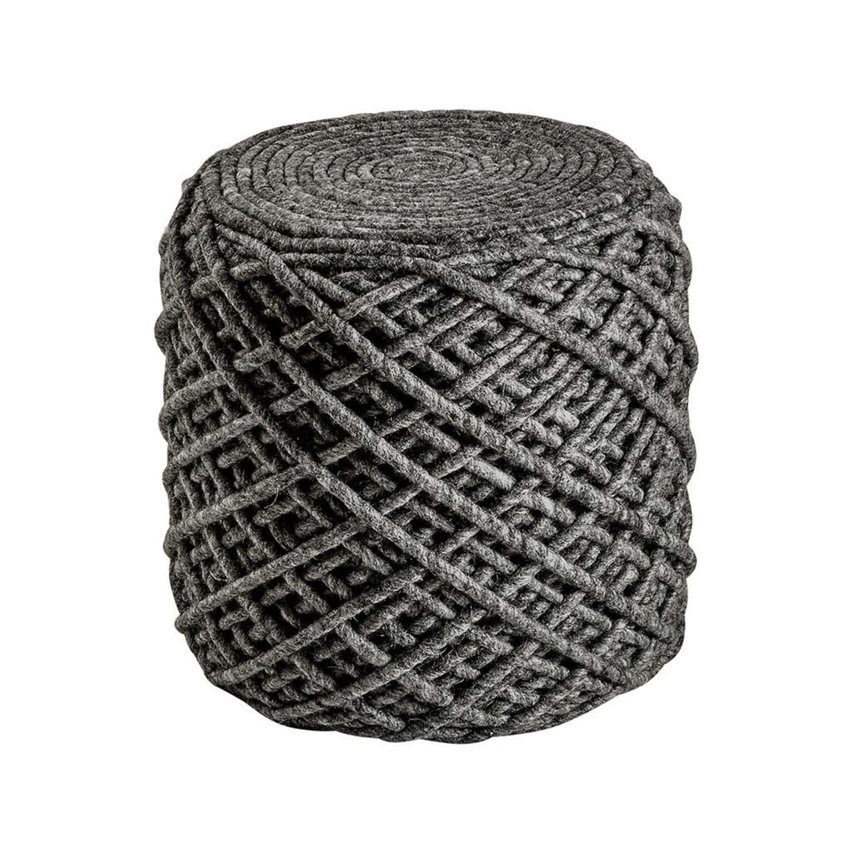 taburet pouf royal graphite vivre