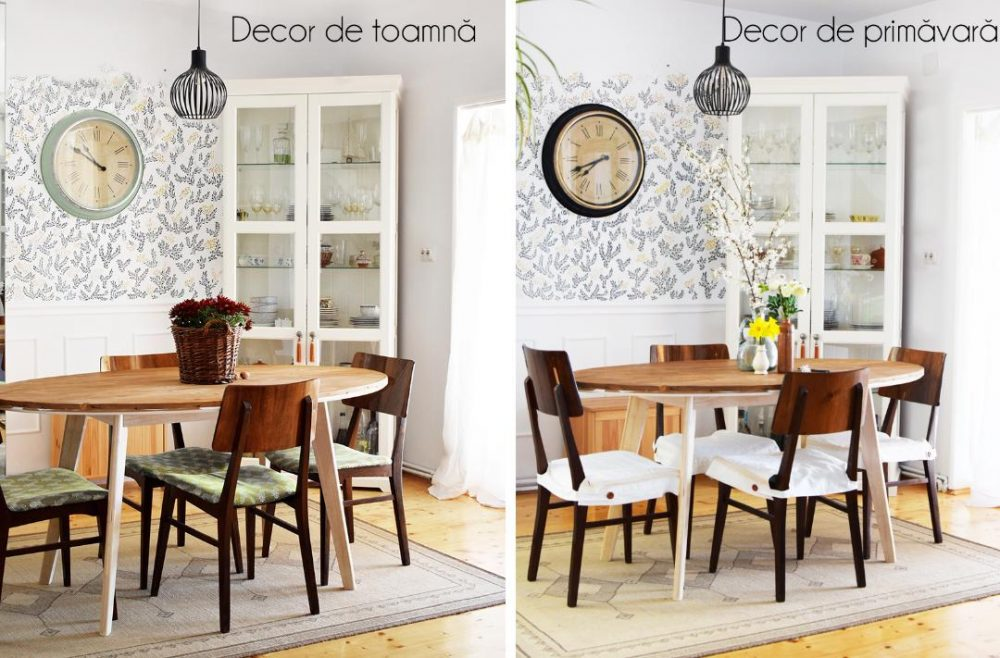 zona de dining din casa Dianei Dragne