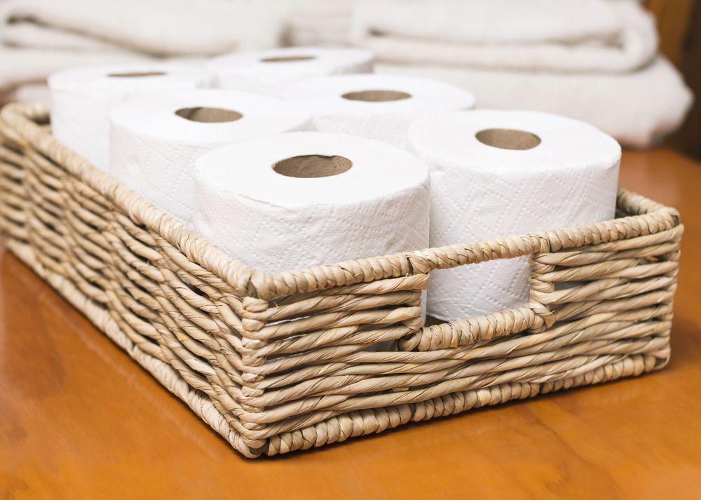 organizarea băii coș hârtie igienică