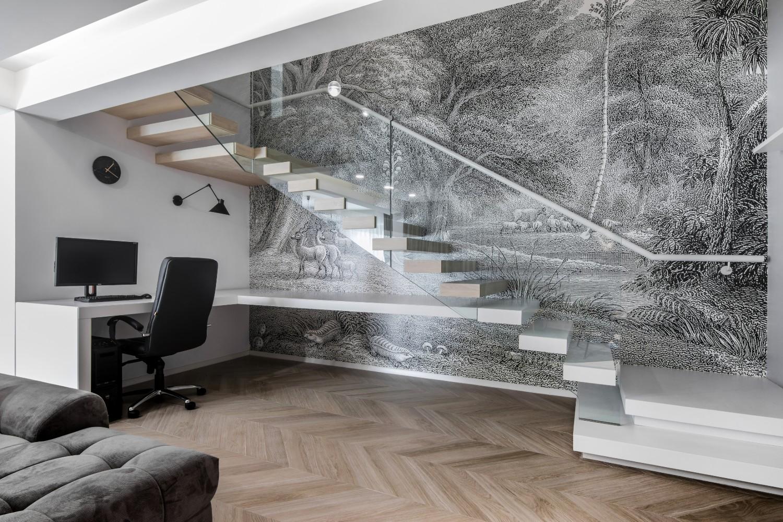 Amenajare open space duplex modern_birou sub scara_Studio2.1 Bucuresti (1)