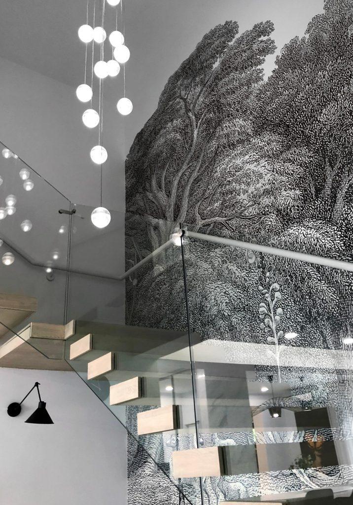 Amenajare open space duplex pe dubla inaltime_trepte in consola_Studio2.1 Bucuresti