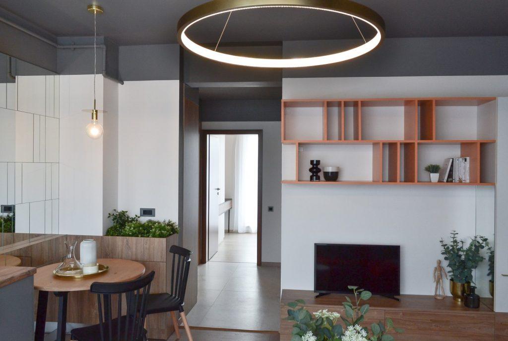 Living open space cu bucatarie Cluj Napoca - arh. Andra Bica Kanso Design