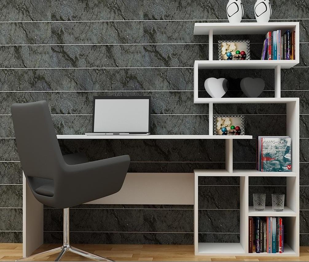 Birou cu bibliotecă inclusă