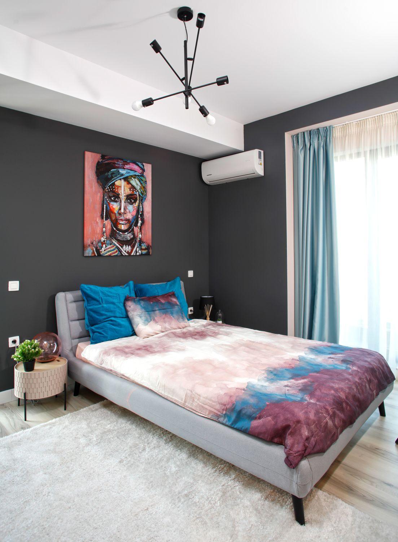 perete antracit dormitor