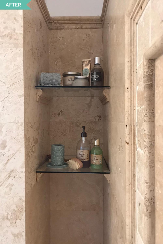 nișe în perete duș