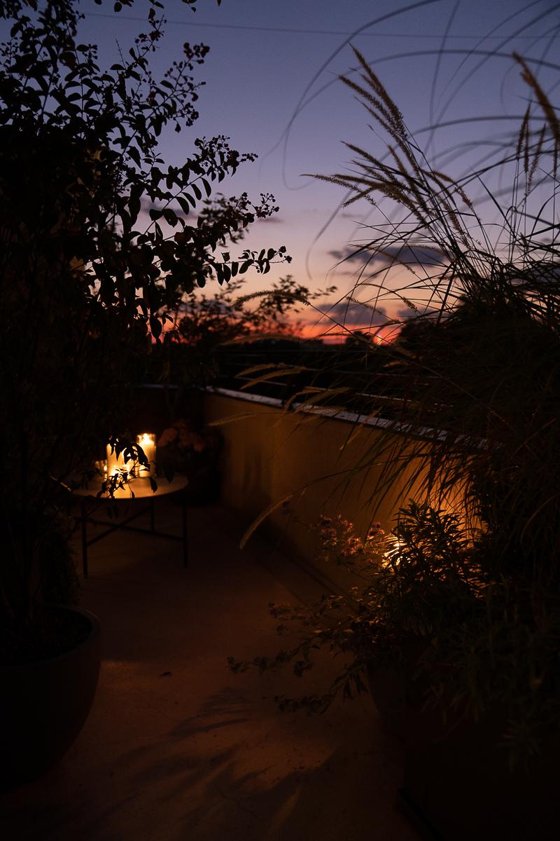 Terasă seara