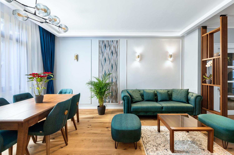 Living și dining apartament cu aer franțuzesc de lângă parcul Cișmigiu - arh. Cătălina Simion, Volucre