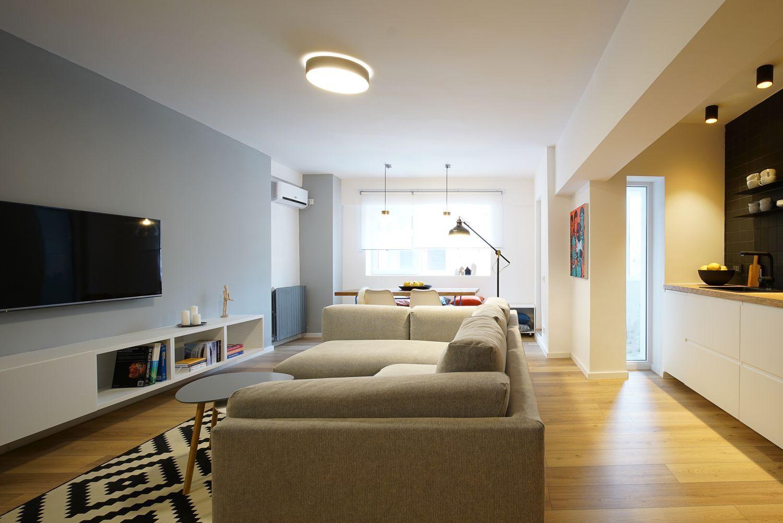 recompartimentare apartament de inchiriat living