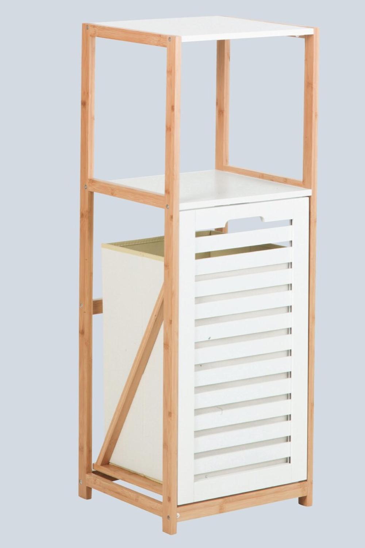 raft pentru baie din bambus