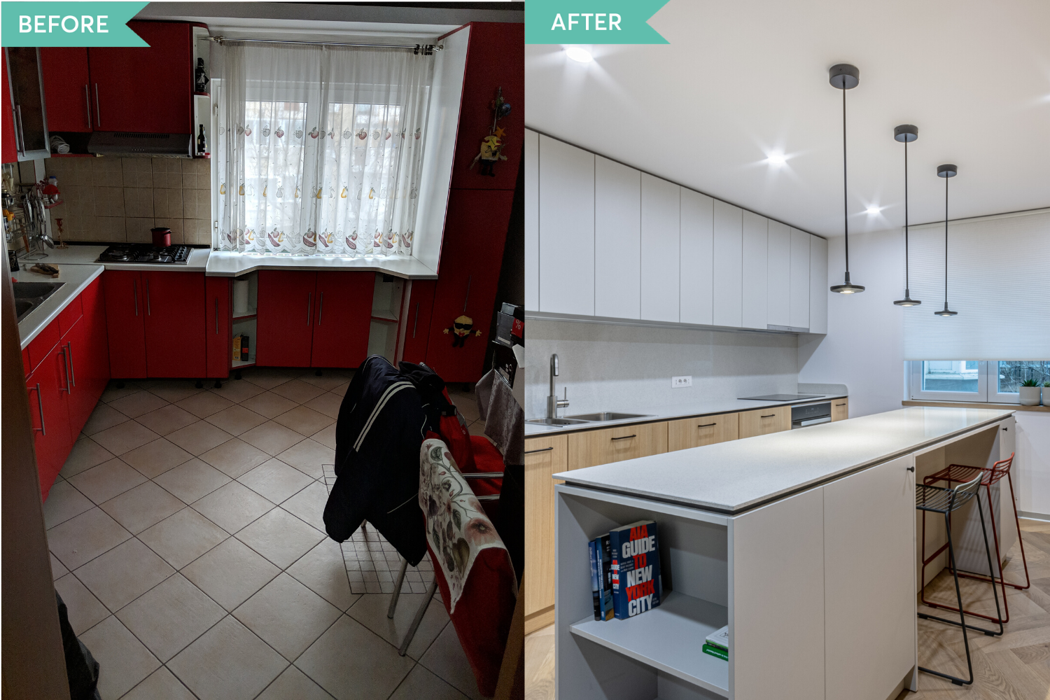 Before and after - amenajare de bucatarie in stil contemporan - Craftr (5)