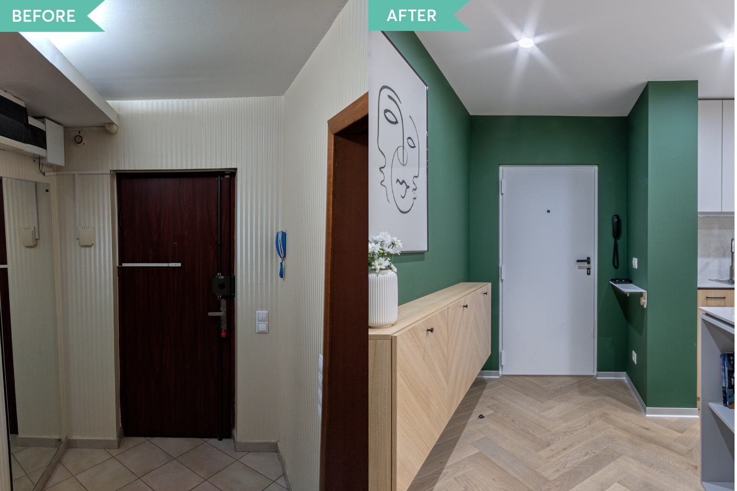 Before and after - amenajare de bucatarie in stil contemporan - Craftr