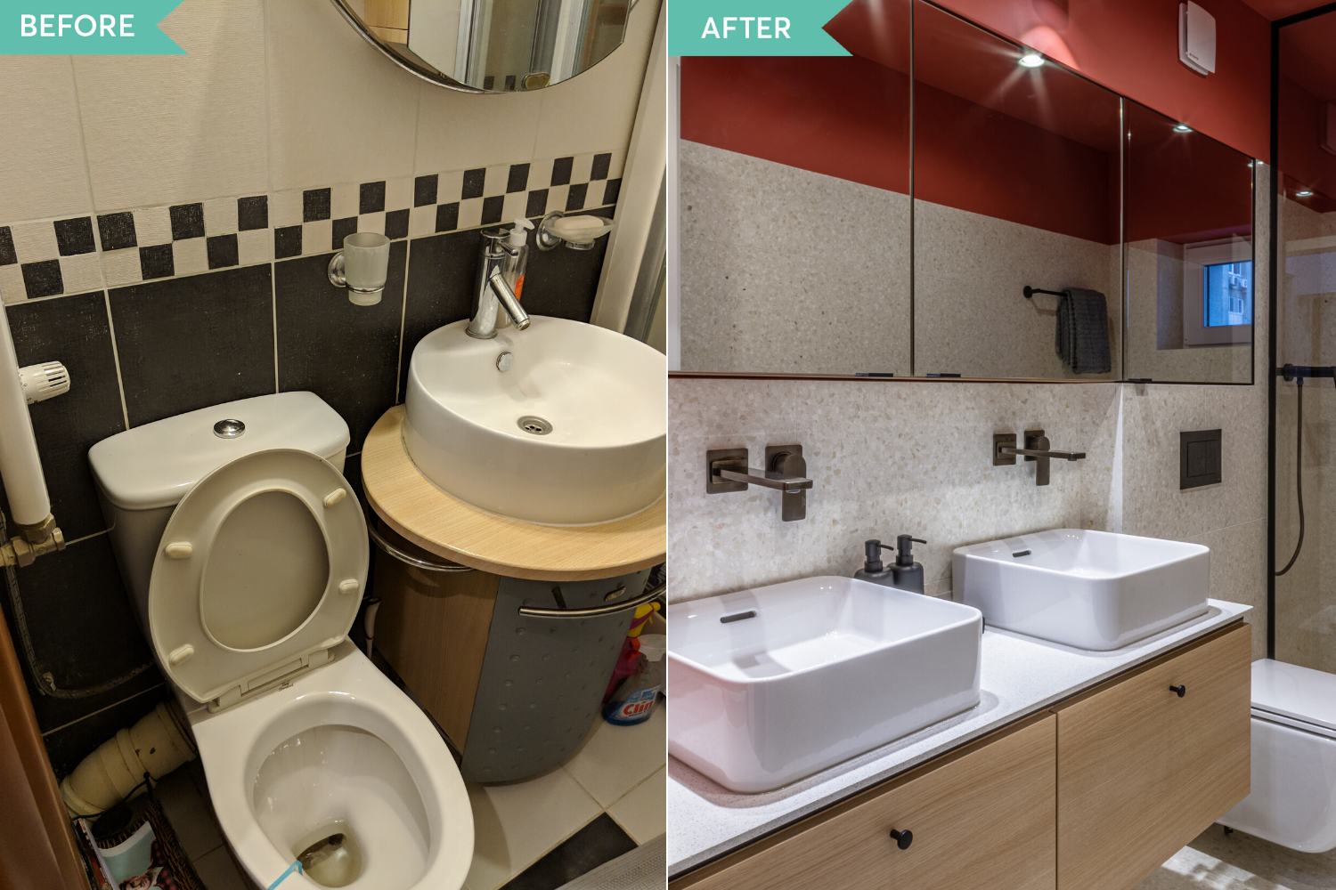 Before and after - renovare baie apartament comunist- Craftr (2)