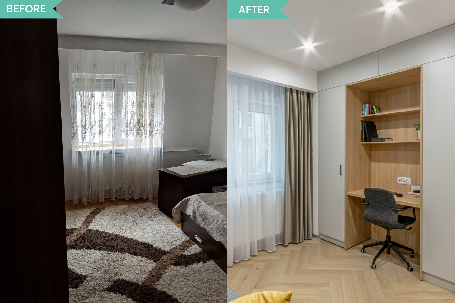 Before and after - renovare birou - Craftr