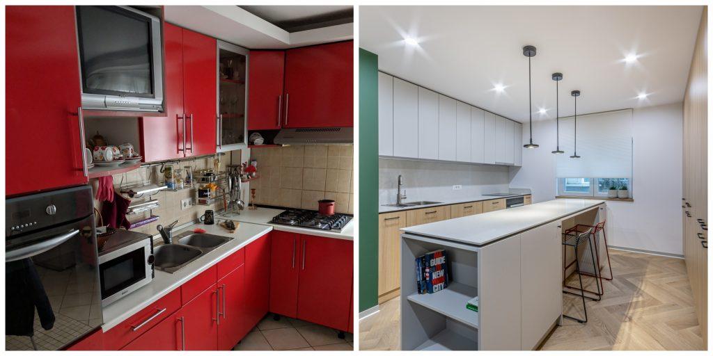 Before and after - renovare radicala apartament Bucuresti - Craftr