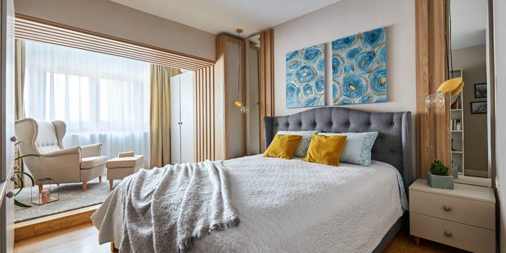 dormitor artă
