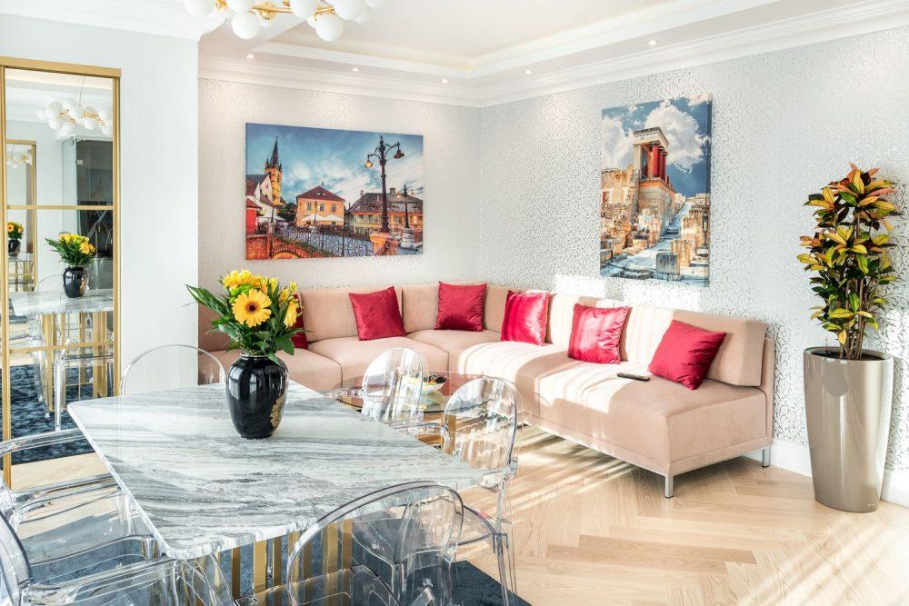 apartament Sibiu living