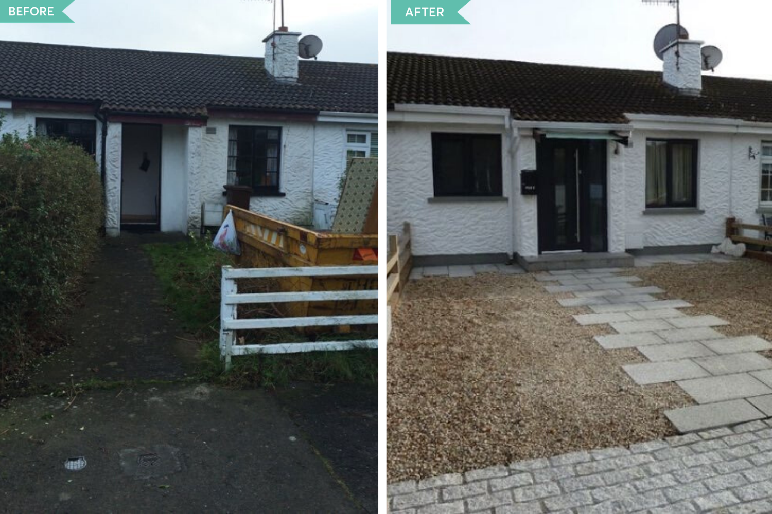 bungalou before and after