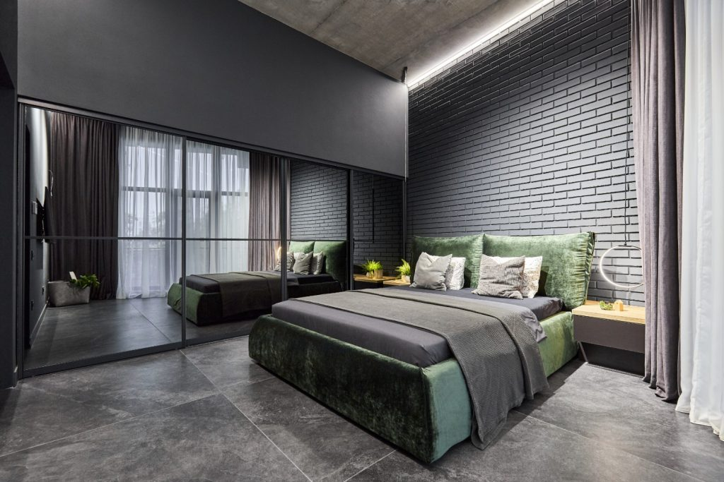 dormitor_amenajare_în_stil_industrial