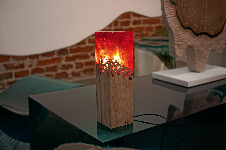 decoratiuni din lemn - lampa dark fracture
