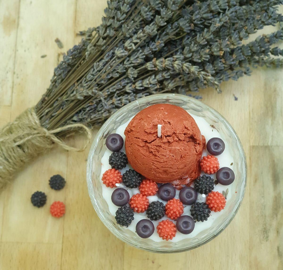 lumanari decorative ice cream berries notturno candles