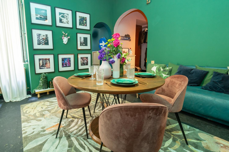 Apartament cu trei camere Calea Victoriei - acasă la arh. Larisa Rățoi - living verde (2)
