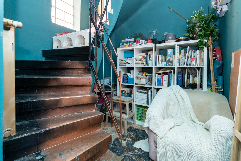 Apartament cu trei camere Calea Victoriei - acasă la arh. Larisa Rățoi - living verde (3)