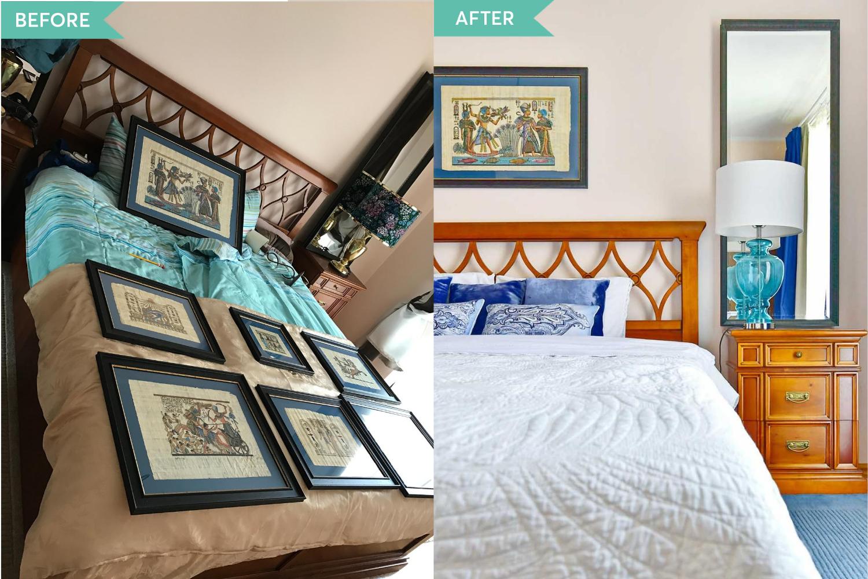 Before and after - renovare dormitor casa Targu Mures - Simona Ungurean