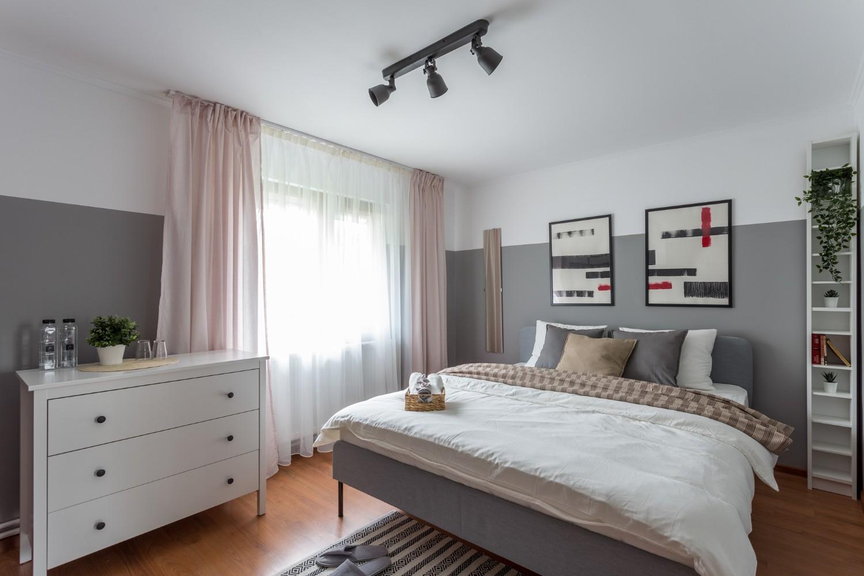 Zen Casa dormitor scandinav gri