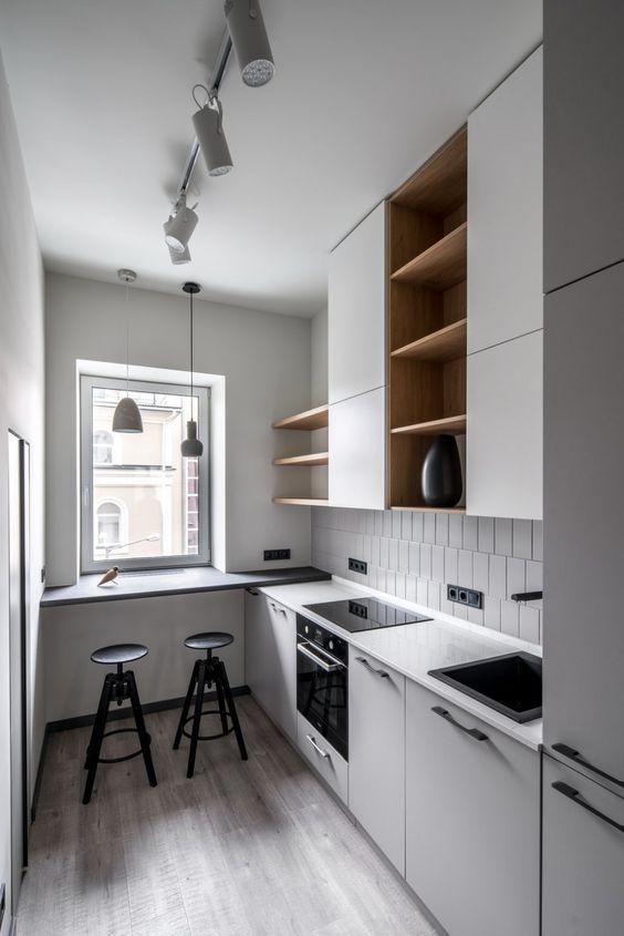 Barul reușește să devină extensia mobilierului de bucătărie