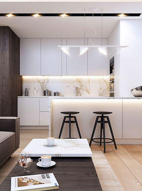 Barul de bucătărie este o soluție ideală și pentru delimitarea zonei de gătit cu cea de zi