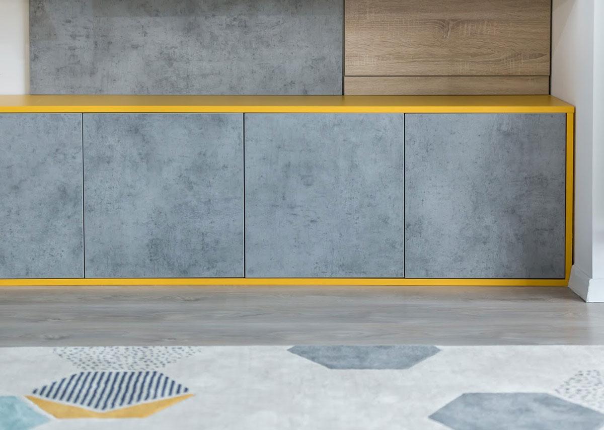consola fronturi cu aspect de beton