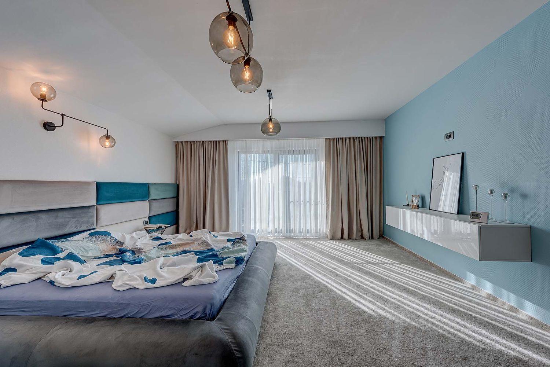 dormitor matrimonial turcoaz