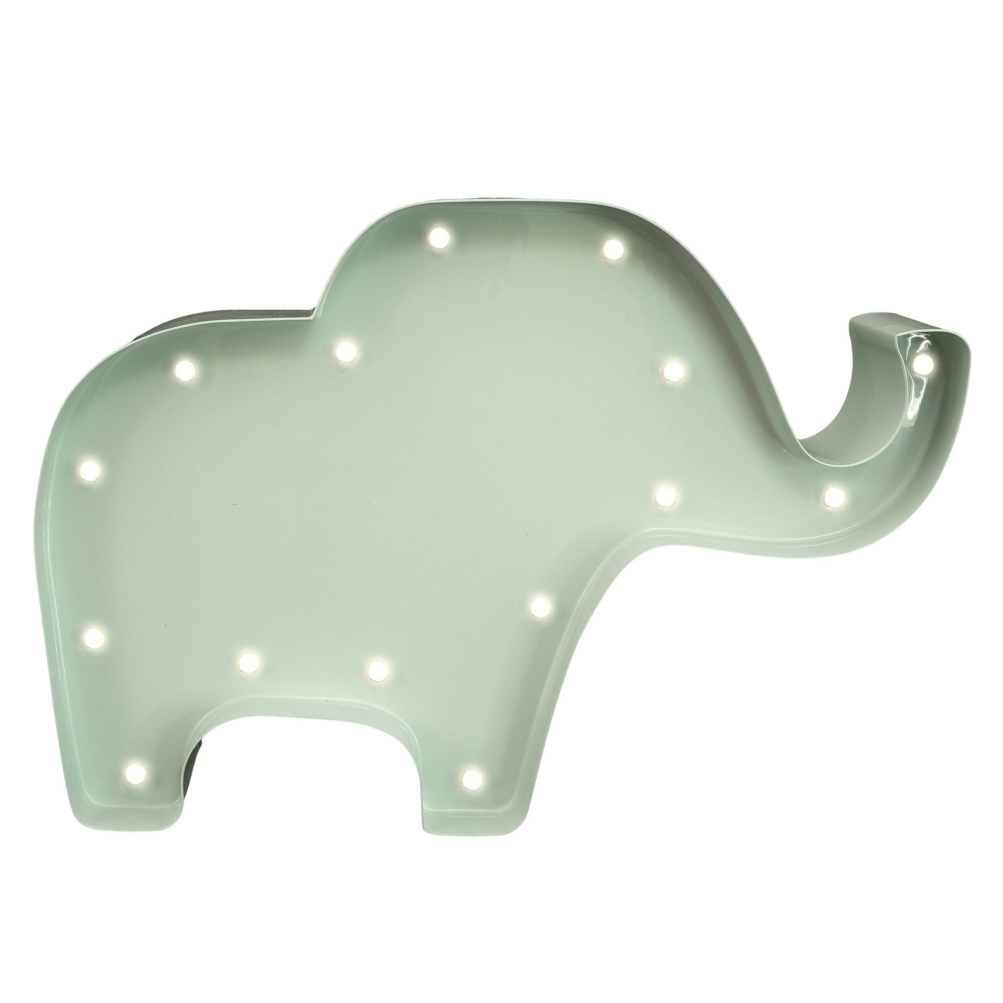 elefant luminos metal