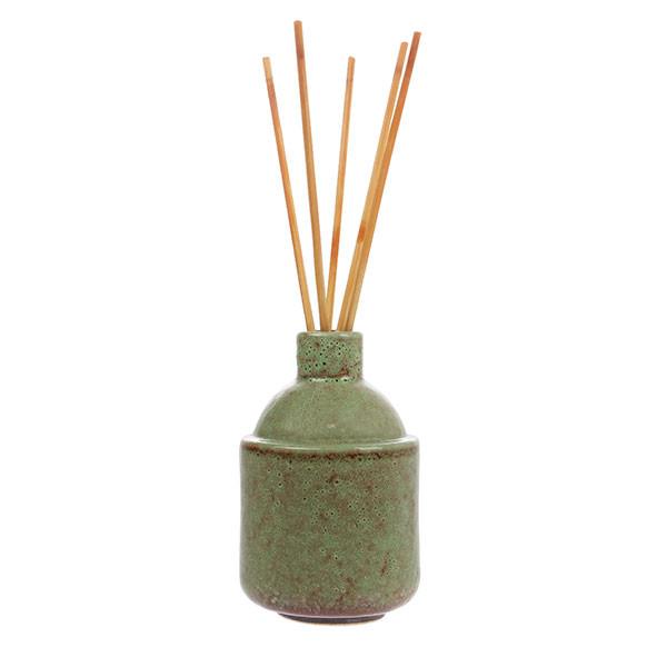 suport betisoare din ceramica in culoarea verde masliniu