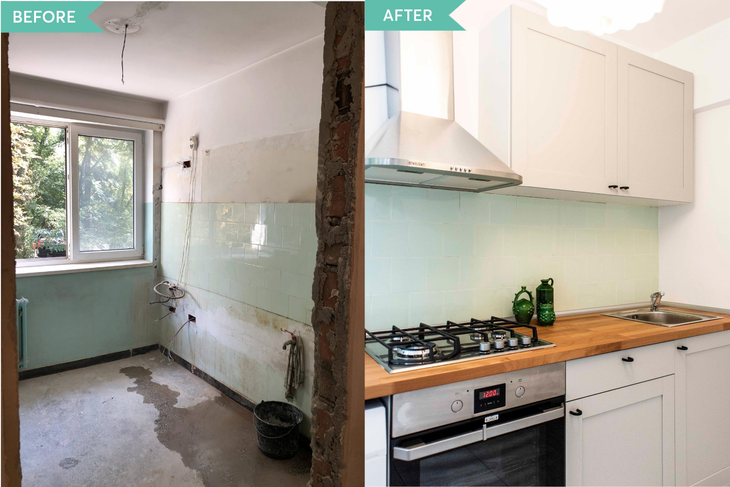 Before and After bucatarie apartament Militari - Diez Office (2)