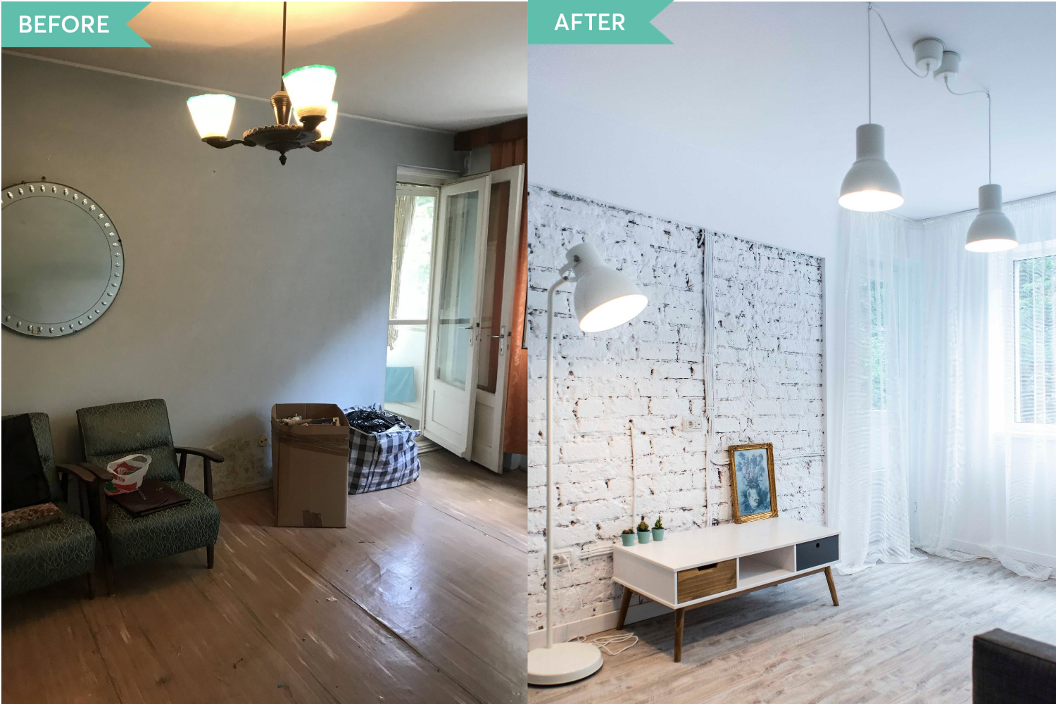 Before and After living apartament Militari - Diez Office (1)