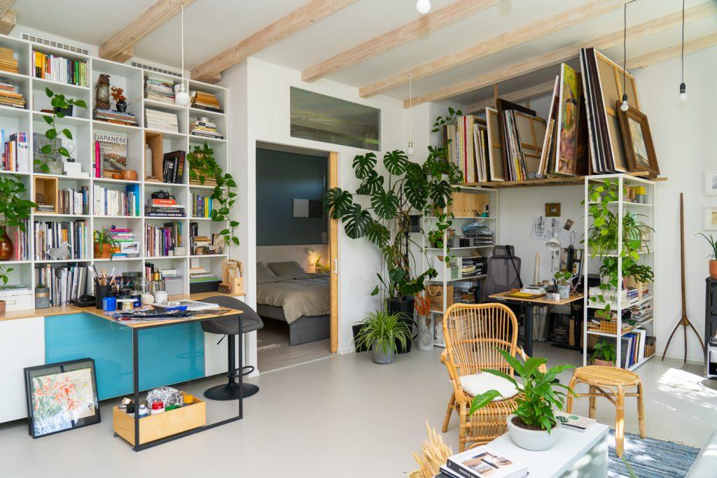 casă pe pâmânt mobilier DIY