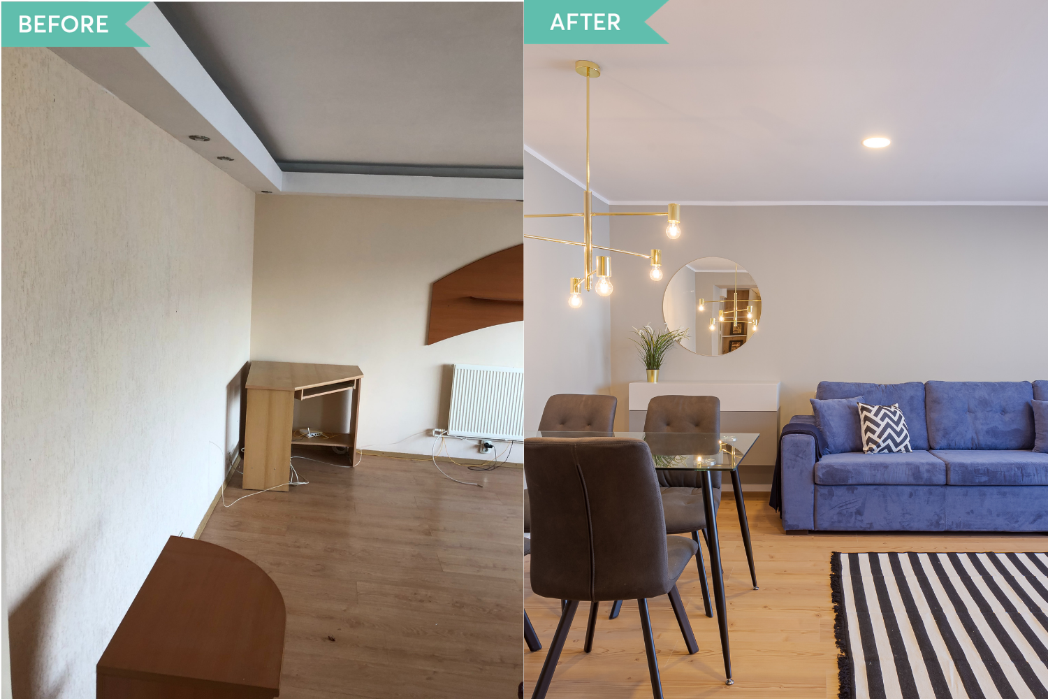 Renovare apartament Aviatiei - before and after _ Arh. Cristiana Zgripcea (5)