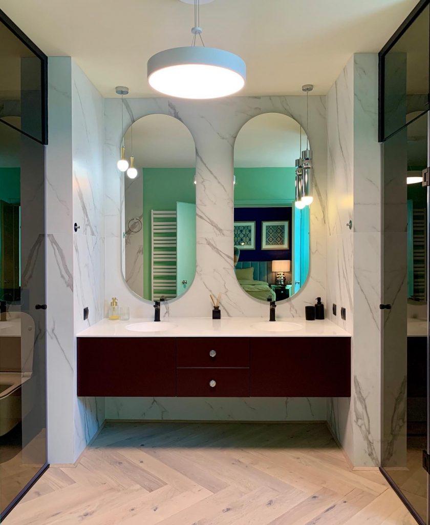 Baie matrimonială penthouse Baia Mare - designer Raul Șerban Hangar7586