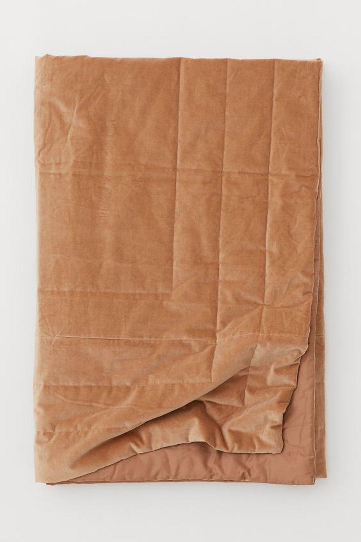 cuvertura de pat din catifea hm home