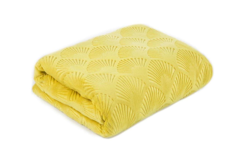 cuvertura de pat galbena