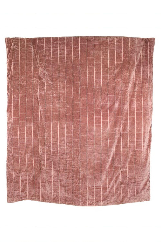 cuvertura roz din bumbac