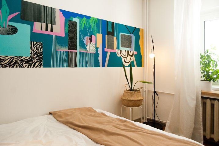 amenajare dormitor mic artistic
