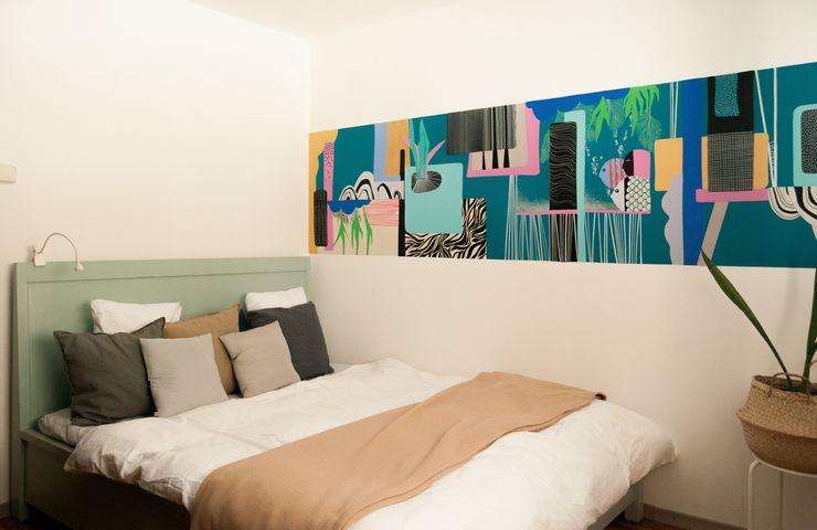 amenajare dormitor pat recondiționat