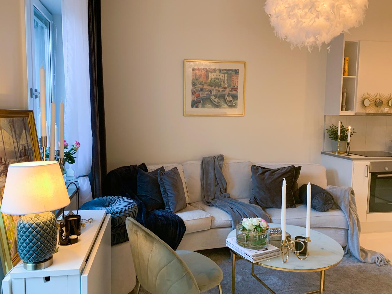living open space apartament stockholm