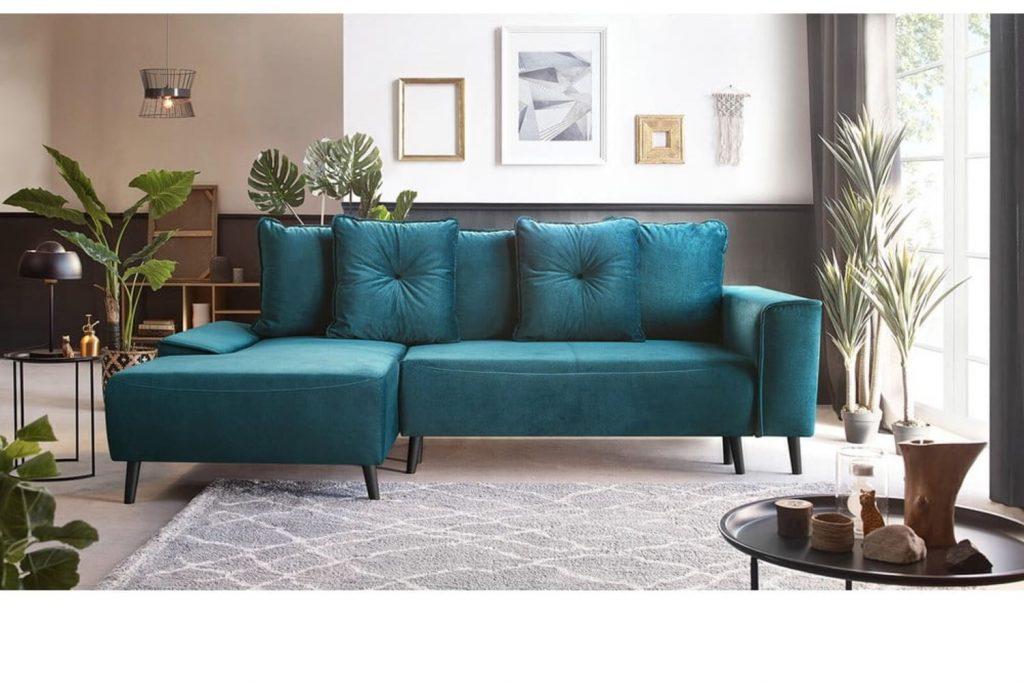 mobilă casă piese_de_mobilier_minimaliste_canapea_turcoaz_bonami